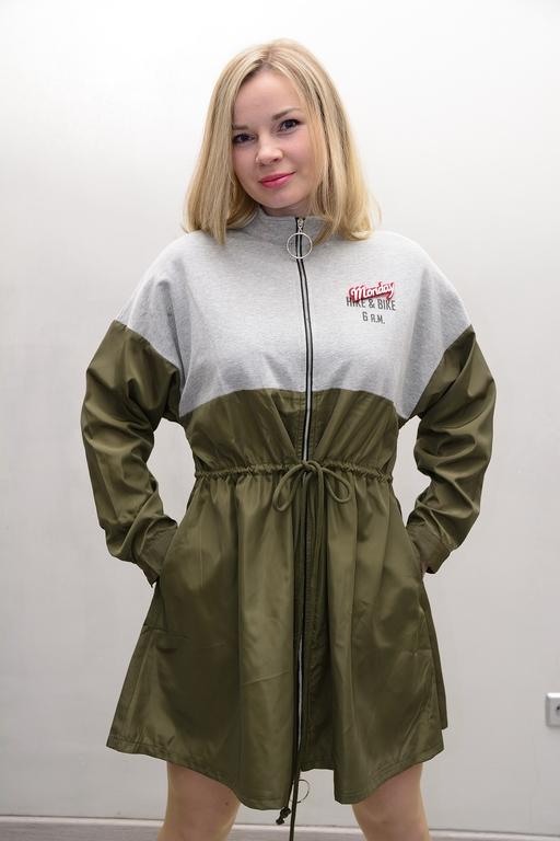 chaqueta bicolor casual