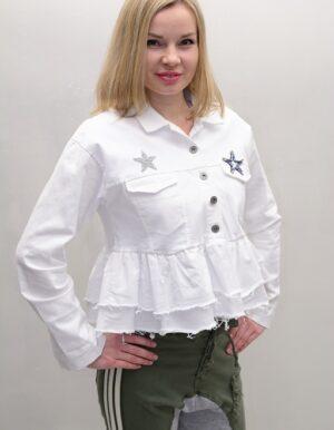 chaqueta blanca en denim