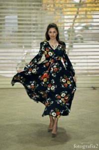 vestido estampado largo showroom pasaje madrid